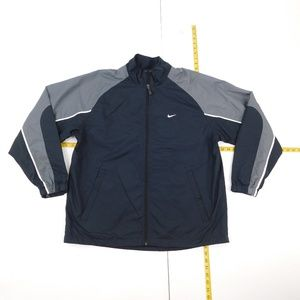 Nike L Black Full Zip Windbreaker  D-30-93856